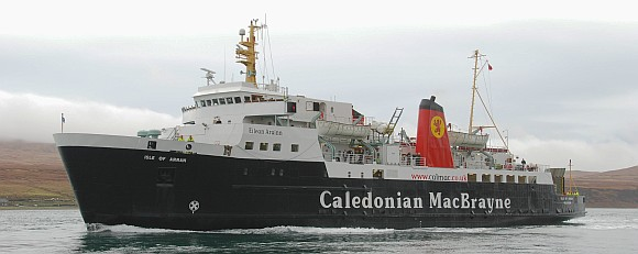 Isle of Arran Ferry in the Sound of Islay