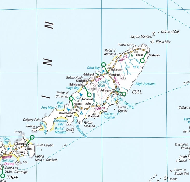 Isle of Coll Map