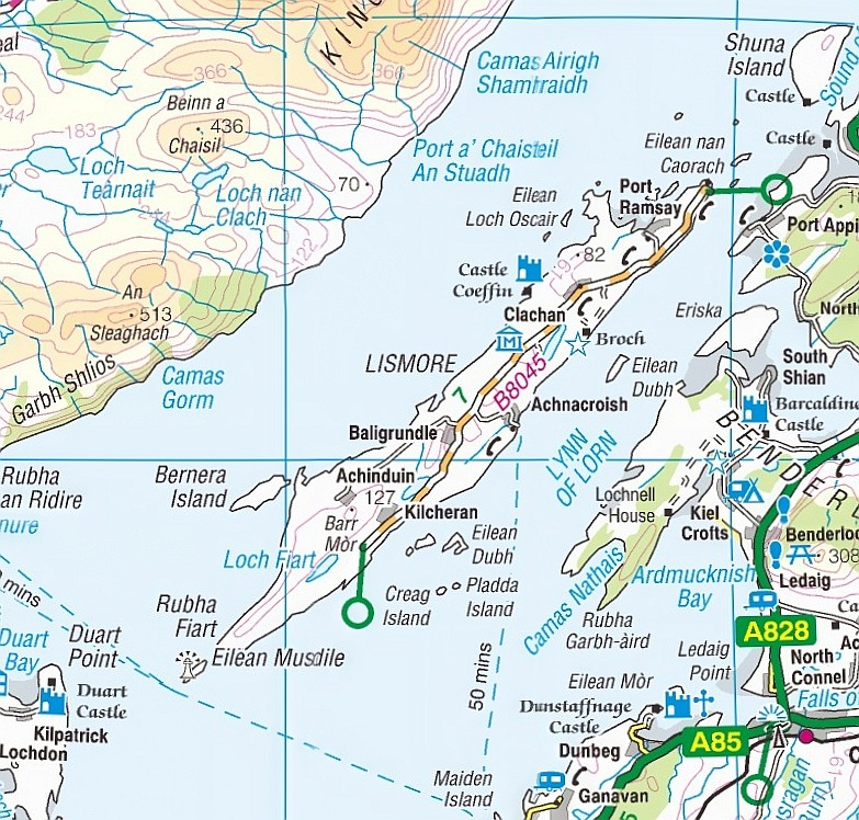 Isle of Lismore Map