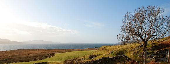 Mull Loch Tuath looking to Treshnish Isles