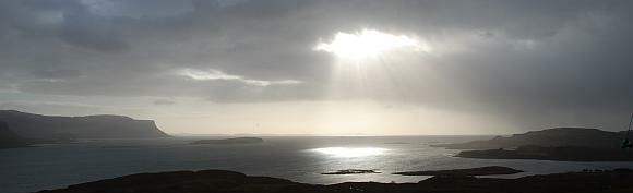 View over Sound of Ulva to Iona