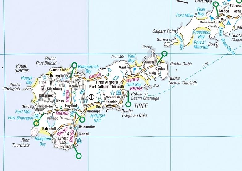 Isle of Tiree Map