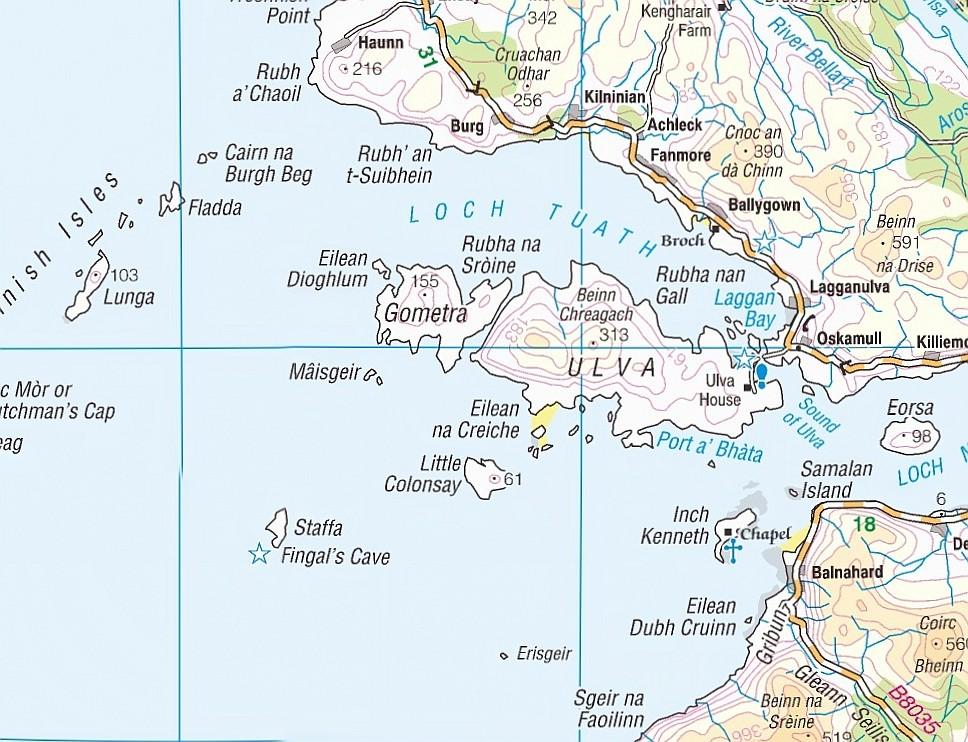 Ulva and Gometra Map