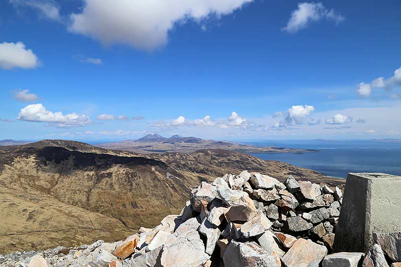 View from Beinn Bheigeir to the Isle of Jura