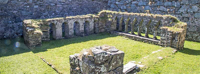 Cloisters within the Oronsay Priory