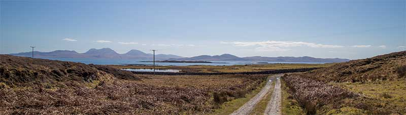 Track to Oronsay Priory